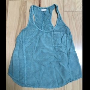 Silence + Noise Blue Green Sleeveless Top